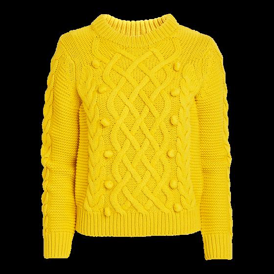 Kabelstickas tröja 399 kr, Lindex
